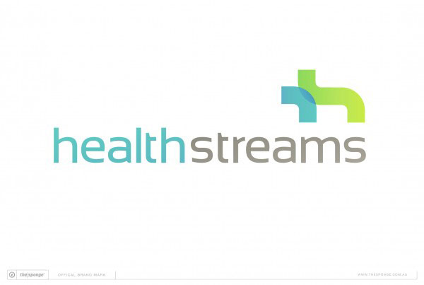 The Sponge Branding: HealthStreams Brand Mark